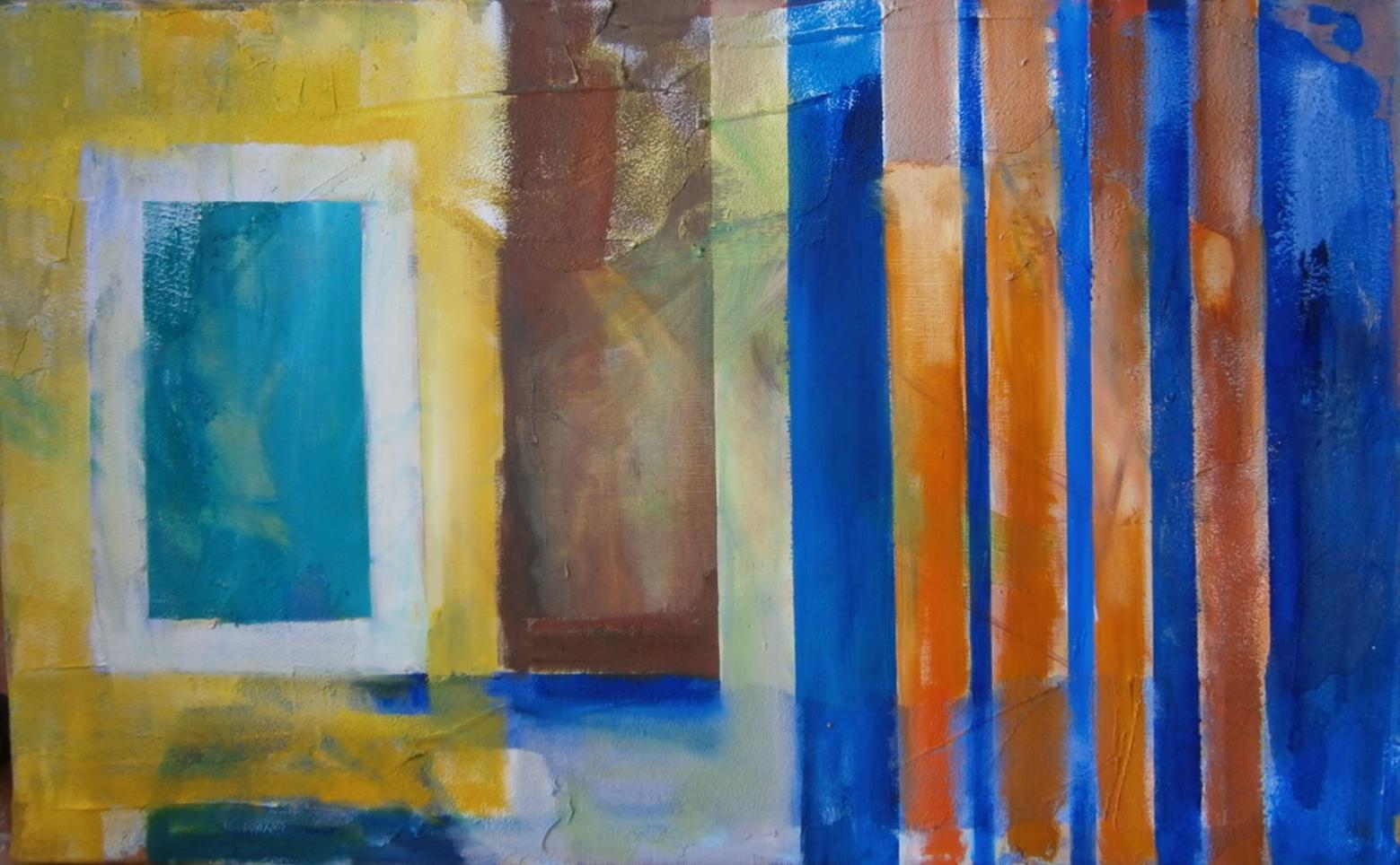 Abstrakcja w oranżowe pasy
