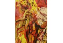 HISZPAŃSCY TANCERZE 100 x 200 cm, collage na płótnie