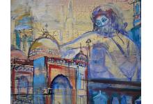 ORIENTALNA BAŚŃ 50 x 70 cm akryl na płycie