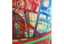 WINDSURFING- ELIPSY 200 x 100cm, olej na płótnie