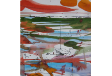 PORANEK NAD ST. LOUIS , akwarela i rys. piórkiem 30 x 40 cm