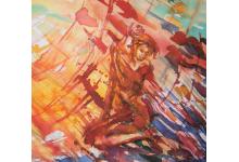 PRZENIKANIE SŁOŃCA   akwarela i tusze 56x75 cm