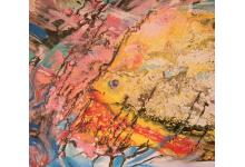 PŁYNĄCA RYBA, 50x70cm akryl na płótnie