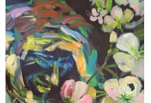 ZAMYŚLONY MĘŻCZYZNA 60x50cm, akryl na płótnie