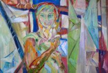 ŻAGLE LISTÓW, 110 x 100 cm olej na płótnie